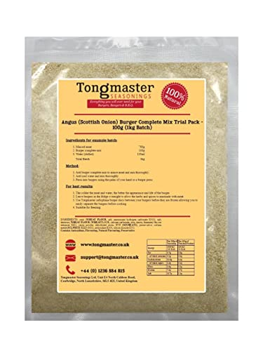 Angus (Scottish Onion) Burger Complete Mix Trial Pack 100g (1kg Batch) from Tongmaster