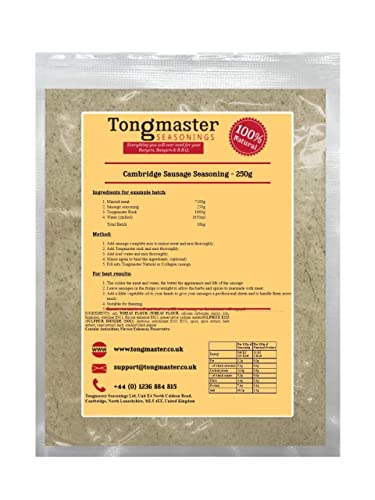 Cambridge Sausage Seasoning - 250g (Makes a 10kg Batch) from Tongmaster