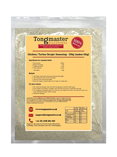 Chicken Burger Seasoning - 250g (Makes 10kg) from Tongmaster