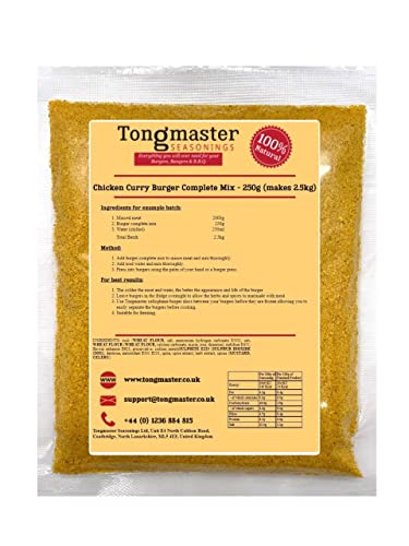 Chicken Curry Burger Complete Mix - 250g (Makes 2.5kg) from Tongmaster