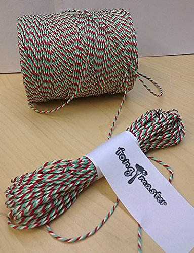 Christmas Red, Green and White Bakers Catering Twine 300m Extra Strong from Tongmaster