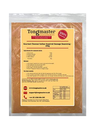 Gourmet Chennai Indian Inspired Sausage Seasoning - 250g (makes a 10kg Batch) from Tongmaster