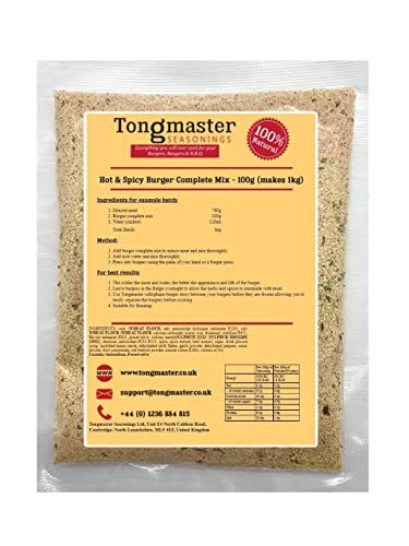 Hot & Spicy Burger Complete Mix Trial Pack 100g from Tongmaster