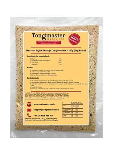 Mexican Fajita Sausage Complete Mix - 100g (1kg Batch) from Tongmaster
