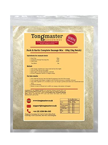 Pork & Garlic Complete Sausage Mix - 100g (1kg Batch) from Tongmaster