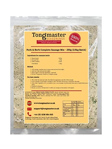 Pork & Herb Complete Sausage Mix - 250g (2.5kg Batch) from Tongmaster
