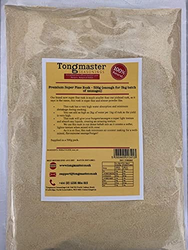 Premium Super Fine Rusk - 500g (enough for 5kg batch of sausages) from Tongmaster