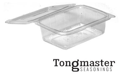 Rectangle Hindged lid Containers clear - 100 pack (128mm x 193mm x 70mm) from Tongmaster