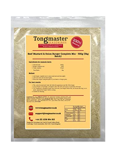Beef,Mustard & Onion Burger Mix - 500g (5kg Batch) from Tongmaster