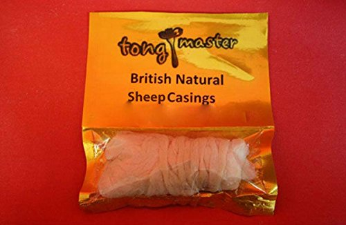 Tongmaster British Natural Sheep Sausage Casing Skin of 80 m Length x 22/24 mm Diameter from Tongmaster