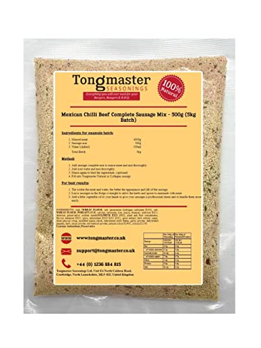 Tongmaster Mexican Chilli Beef Complete Sausage Mix 500 g from Tongmaster