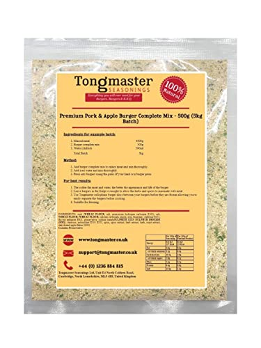 Tongmaster Pork and Apple Burger Mix 500 g from Tongmaster