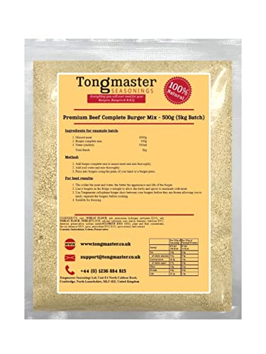 Premium Beef Complete Burger Mix - 500g (5kg Batch) from Tongmaster