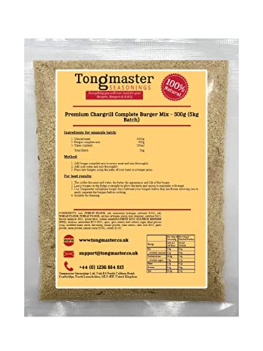 Tongmaster Premium Chargrill Complete Burger Mix 500 g from Tongmaster