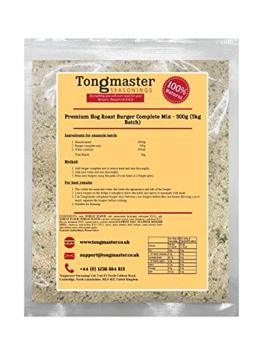 Premium Hog Roast Burger Complete Mix - 500g (5kg Batch) from Tongmaster
