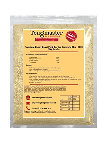 Tongmaster Premium Honey Roast Pork Burger Complete Mix 500 g from Tongmaster