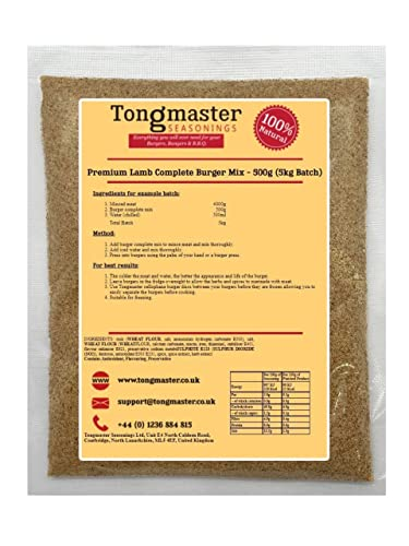 Tongmaster Premium Lamb Complete Burger Mix 500 g from Tongmaster