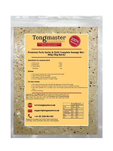 Tongmaster Premium Pork Garlic and Chilli Complete Sausage Mix 500 g from Tongmaster
