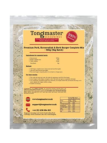 Tongmaster Premium Pork Horseradish and Herb Burger Complete Mix 500 g from Tongmaster