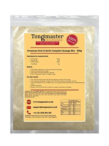 Tongmaster Premium Pork and Garlic Complete Sausage Mix 500 g from Tongmaster