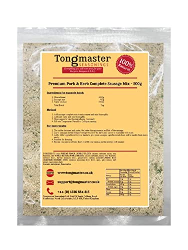 Tongmaster Premium Pork and Herb Sausage Complete 500 g from Tongmaster