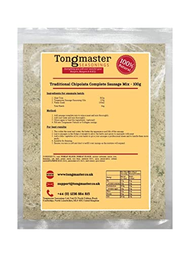 Traditional Chipolata Complete Sausage Mix - 100g (This Pack Makes a 1kg Batch) from Tongmaster