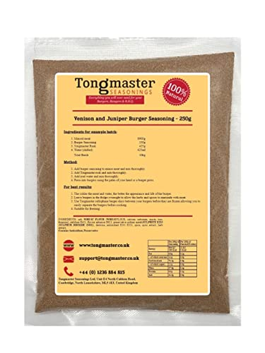 Venison and Juniper Burger Seasoning - 250g from Tongmaster