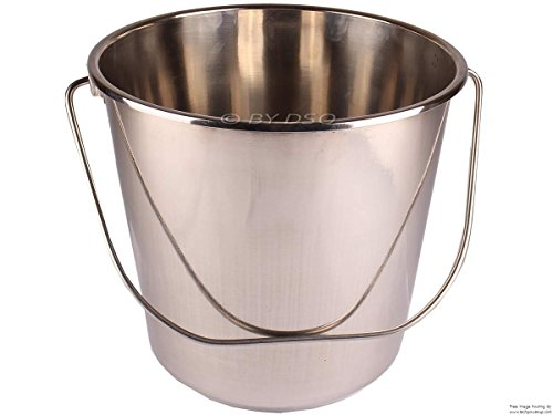 3xToolzone 12 Litre Stainless Steel Bucket from Toolzone