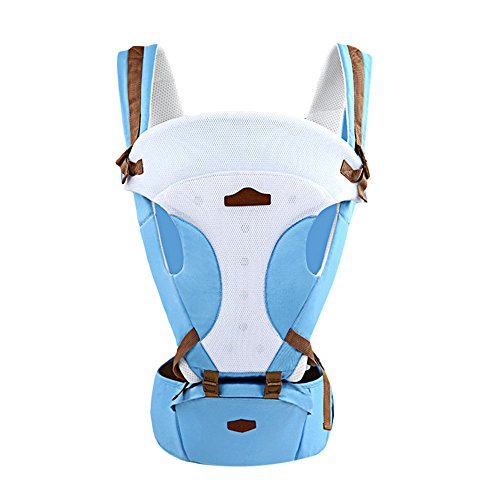 Baby Hip Seat Multifunction Baby Carrier Breathable Sling Wrap Infant Backpack Kangaroo Suspender (Light Blue) from Top of top store