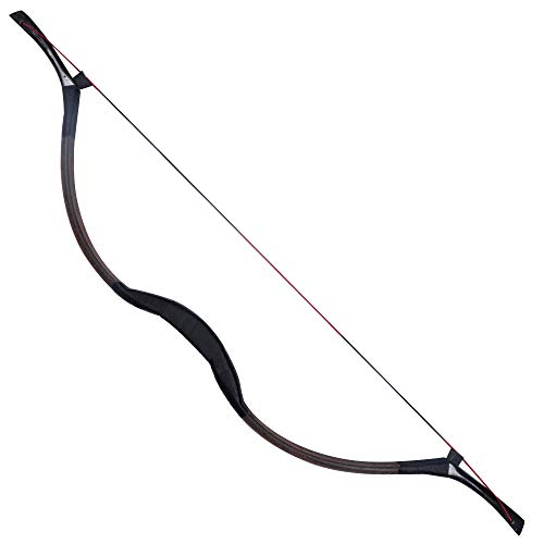 Toparchery Handmade Horse Leather Hide Recurve Bow Traditional Longbow Mongolian Horsebow 20-50LBS (50) from Toparchery