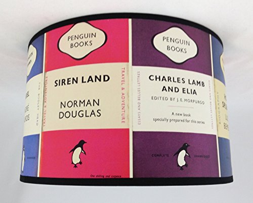 "11"" Lampshade Handmade in UK - Osbourne & Little Penguin Books from Tophouse Design - Lampshades & Cushions"