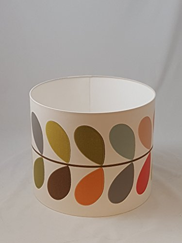 "14"" Lampshade Handmade in UK - Orla Kiely Multi Stem Wallpaper from Tophouse Design - Lampshades & Cushions"