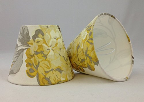 2 Candle Lampshade Handmade in UK - Laura Ashley Hydrangea Camomile from Tophouse Design - Lampshades & Cushions