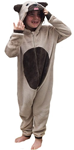 Childrens Boys and Girls Onesie Fluffy Fleece Monkey or Rabbit in Kids Pug Age 2-3 from TopsandDresses
