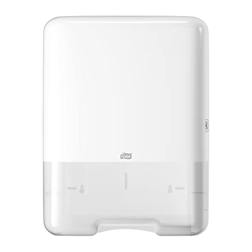 Tork Singlefold or C-Fold Hand Towel Dispenser Compatible with C-Fold and ZZ-Fold System, White from Tork