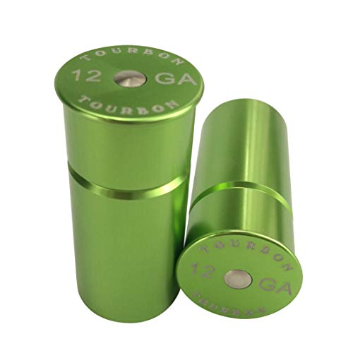 Tourbon Shotgun 12 Gauge Aluminium Snap Cap (Pack of 2 pieces) - Green from TOURBON