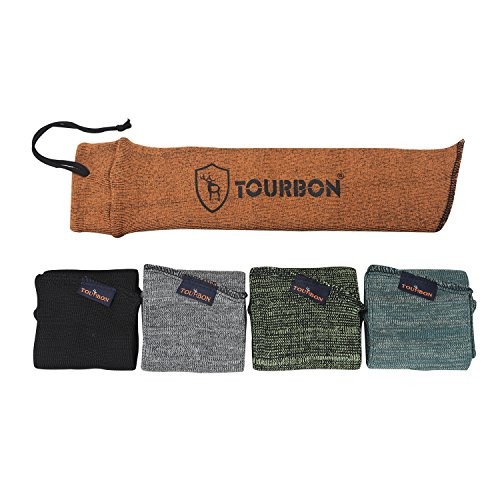 Tourbon Silicone Oil Treated Pistol Sack Storage Gun Sock Handgun Case Sleeve 15 Inch (pack of 5 pieces ) from Tourbon