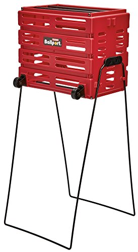 Tourna Red Ballport Deluxe Cart with Wheels from Tourna Grip