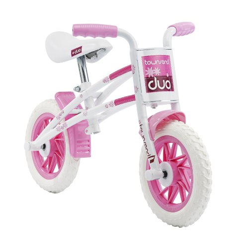 Townsend Duo Girls' Kids Bike White/Pink 1 speed puncture proof tyres comfy ergonomic grips from Townsend
