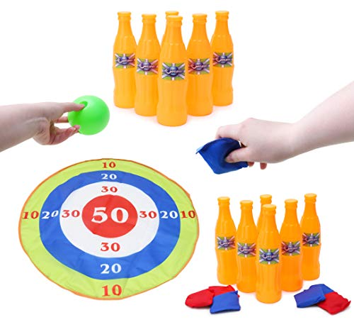 Toyland® 3 In Game Set - Bowling , Sand Bags & Target Game - Sports And Outdoor Toys from Toyland