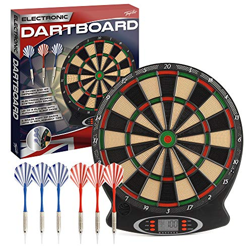 Toyrific Children's Electronic Dartboard with LED Digital Score Display and Plastic Tip Darts  from Toyrific