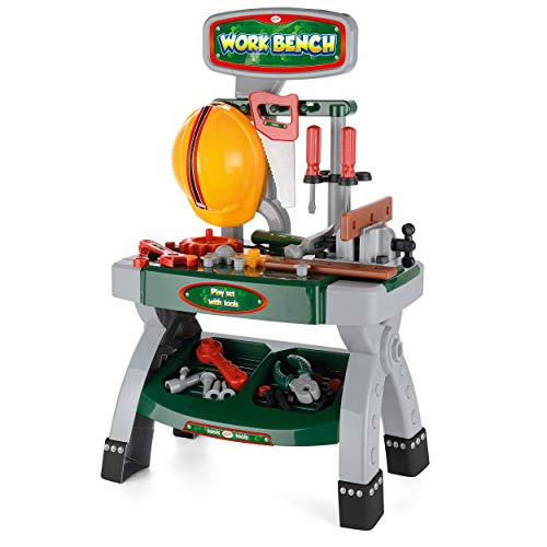 Toyrific Kids Construction Work Bench Role Play Set with Tools from Toyrific