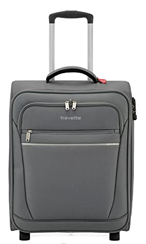 Travelite CABIN 2Rad Bordtrolley, Anthrazit, 90237-04 Hand Luggage, 55 cm, 44 liters, Grey (Anthrazit) from Travelite