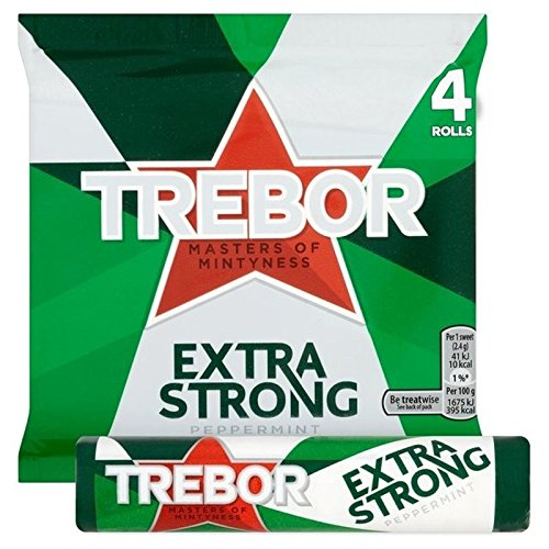 Trebor Extra Strong Peppermint Mints 4 x 41g - Pack of 6 from Trebor