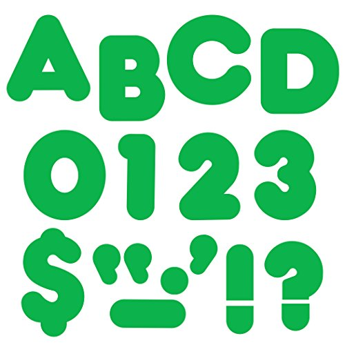 "Trend Enterprises Casual Ready Letters, 72 per Package, 4"", Green (T-458) from Trend"