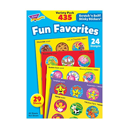 Trend Enterprises Fun Favorites Stinky Stickers Variety Pack, 435/pkg (T-6491) from Trend