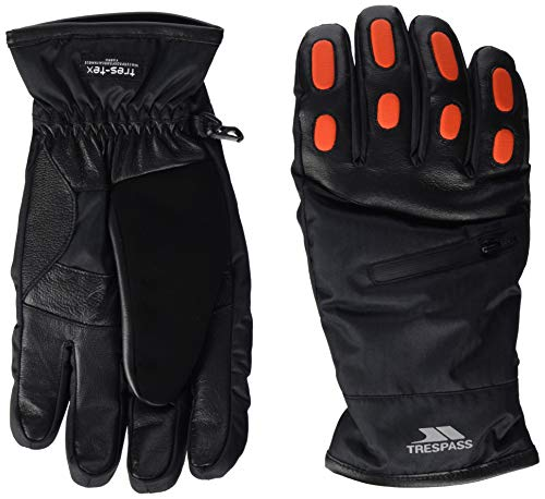 Argus Adults Waterproof Ski Gloves - BLACK M from Trespass
