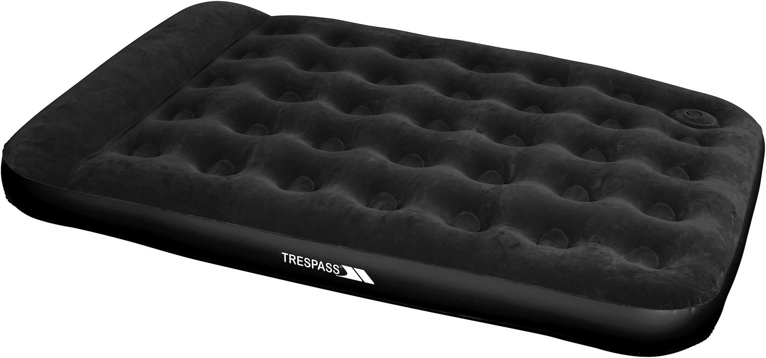 Trespass Double Flocked Air Bed with Foot Pump from Trespass