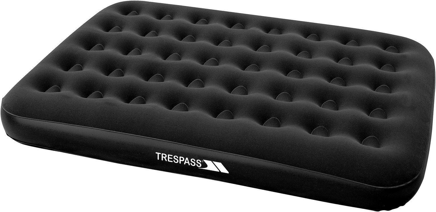 Trespass Double Flocked Air Bed with Mains Pump from Trespass