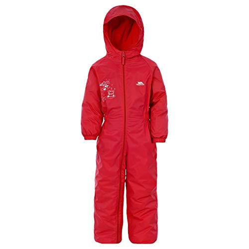 Trespass Dripdrop, Signal Red, 18/24, Waterproof Rain Suit with Hood Kids Unisex, Age 18-24 Months, Red from Trespass